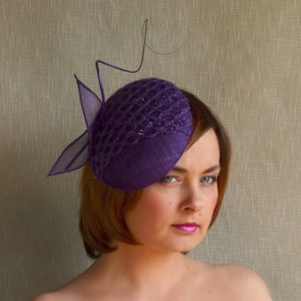 NORA purple fascinator by Rubina Millinery