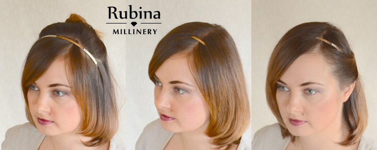 Phenomenal How To Fix A Fascinator Or Cocktail Hat Rubina Millinery Hairstyle Inspiration Daily Dogsangcom