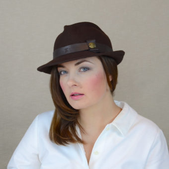 DAKOTA - brown felt fedora hat