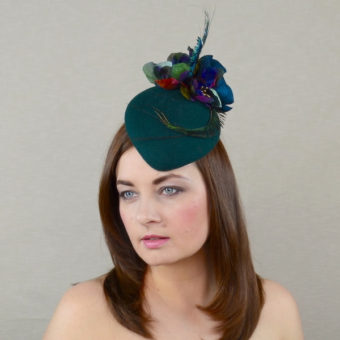 MACKENZIE green felt pillbox hat