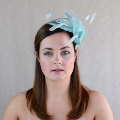 SANDRA aqua blue fascinator