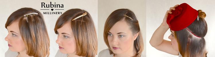 wearing fascinators with short hair – RUBINA Millinery 2501f5b0aaa