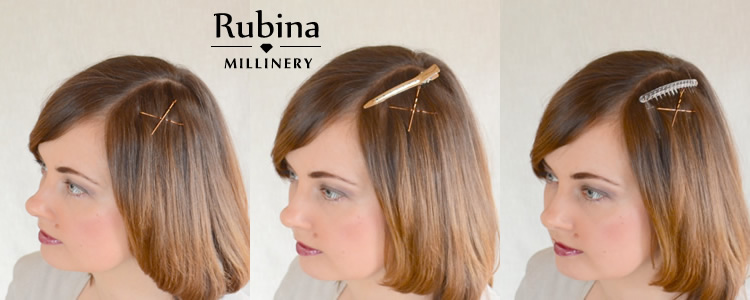 This is another easy way how to keep your fascinator in place. Just take  two bobby pins 12f76b7230a